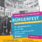 Plakat zum Bürgerfest »Auf dem Weg zur Zivilgesellschaft« (Gestaltung: Anke Heelemann)