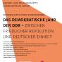 Plakat zum Tagesseminar »Das demokratische Jahr der DDR« (Grafik: Anita Grabovac)
